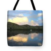 Sunset On Komodo Tote Bag