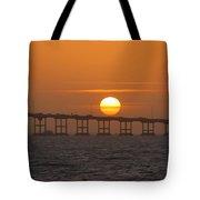 Sunset On Laguna Madre Bay Tote Bag