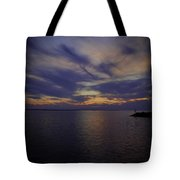 Sunset On Lake Poygan 1 Tote Bag