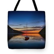 Sunset On Lake Willoughby Tote Bag