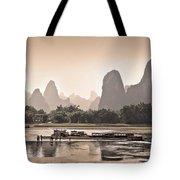 Sunset On Li River Tote Bag