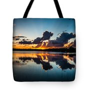 Sunset On Little Pine Lake Tote Bag