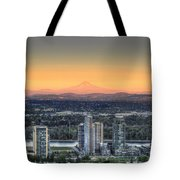 Sunset On Mount Hood Tote Bag