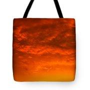 Orange Cloud Sunset Tote Bag