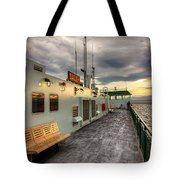 Sunset On Salish Tote Bag