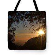 Sunset On San Jacinto Tote Bag