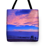 Sunset On Sand Beach Acadia National Park Maine Tote Bag