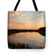 Sunset On Sandpiper Pond Tote Bag