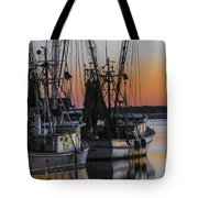 Shem Creek Sunset - Charleston Sc Tote Bag