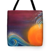 Sunset On Surf Tote Bag