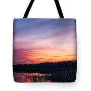 Sunset On Teeple Lake Tote Bag