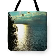 Sunset On The Bay Of Green Bay Wi Tote Bag