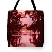Sunset On The Bayou Atchafalaya Basin Louisiana Tote Bag