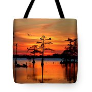 Sunset On The Bayou Tote Bag