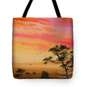 Sunset On The Coast Tote Bag