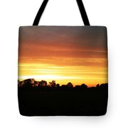 Sunset On The Edge Of Town Tote Bag