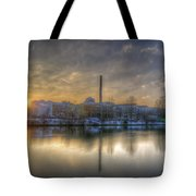 Sunset On The Esifabrik Tote Bag by Nathan Wright