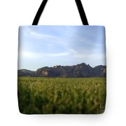 Sunset On The Golf Course Tote Bag