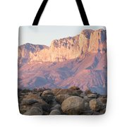 Sunset On The Guadalupe Mountains Tote Bag