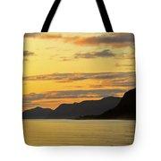 Sunset On The Gulf Of Alaska Tote Bag