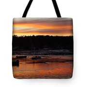 Sunset On The Harbor Tote Bag