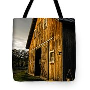 Sunset On The Horse Barn Tote Bag