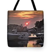 Sunset On The Island Tote Bag