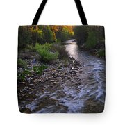 Sunset On The Merced Tote Bag
