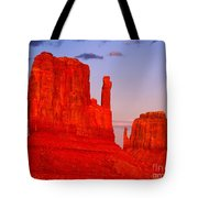 Sunset On The Mittens Tote Bag