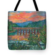 Sunset On The New River Tote Bag