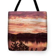 Sunset On The Ohio River  Tote Bag