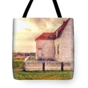 Sunset On The Old Farm House Tote Bag
