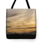 Sunset On The Olympics Tote Bag