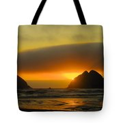Sunset On The Oregon Coast Tote Bag