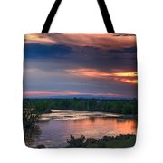 Sunset On The Payette  River Tote Bag