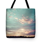Sunset On The River In The Peruvian Amazon Jungle Tote Bag