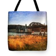 Sunset On The Siuslaw River Tote Bag