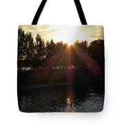 Sunset On The Volga River Tote Bag