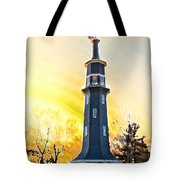 Sunset On The Windmill Tote Bag