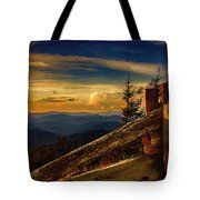 Sunset On Top Of Mount Mitchell Tote Bag
