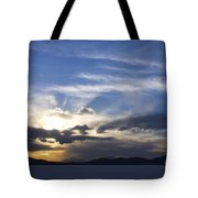 Sunset On Uyuni Salt Flats Tote Bag