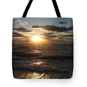 Sunset On Venice Beach  Tote Bag