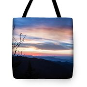 Sunset On Water Rock Knob Blue Ridge Parkway Scenic Photo Tote Bag