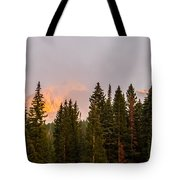 Sunset On West Beckwith Peak Tote Bag