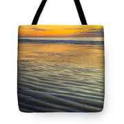 Sunset On Wet Sandy Beach Seascape Fine Art Photography Print  Tote Bag