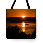 Sunset On Winnesheik Tote Bag