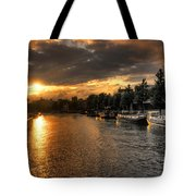 Sunset Over Amsterdam  Tote Bag