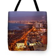 Sunset Over Arica Chile Tote Bag