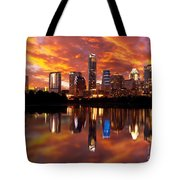 Sunset Over Austin Tote Bag