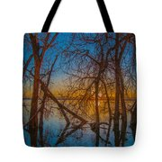 Sunset Over Barr Lake_2 Tote Bag by Tom Potter
